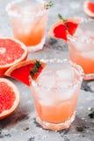 Grapefruit salty dog Cocktail royalty free stock photo