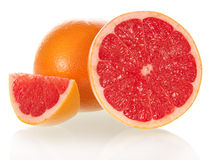 Grapefruit in a section Stock Photography