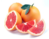 Grapefruit with segments Stock Images