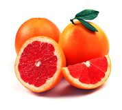 Grapefruit with segments Royalty Free Stock Photography