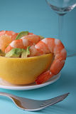 Grapefruit and shrimp salad Royalty Free Stock Photos