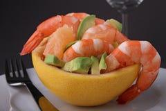 Grapefruit and shrimp salad Stock Images