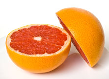 grapefruit składa czerwień Zdjęcia Royalty Free