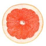 Grapefruit slice. Isolated over white Royalty Free Stock Photos
