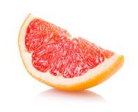 Grapefruit slice. Isolated on white Stock Photos