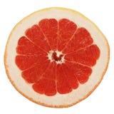 Grapefruit slice. Grapefruit slice isolated on white stock photography