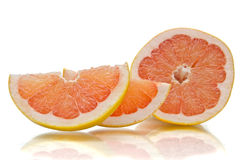 Grapefruit slice Stock Image