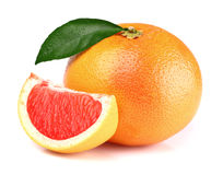Grapefruit with slice Stock Image