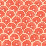 Grapefruit Slice Abstract Seamless Pattern Stock Photography