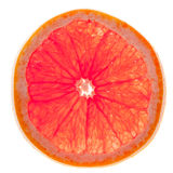 Grapefruit Slice with Clipping Path Royalty Free Stock Photography