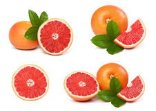 Grapefruit with slice detail Stock Photo