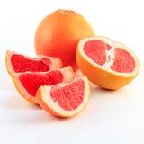Grapefruit. Slice grapefruit isolated on white background Royalty Free Stock Photo