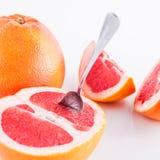 Grapefruit. Slice grapefruit isolated on white background Royalty Free Stock Image