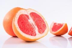 Grapefruit. Slice grapefruit isolated on white background Royalty Free Stock Photography