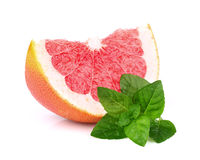 Grapefruit slice with mint Stock Photo