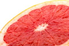 Grapefruit slice  on white angle view Stock Image