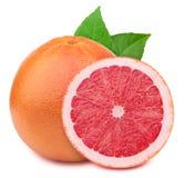 Grapefruit with slice  on white Stock Photo