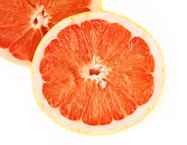 Grapefruit sliced stock photo