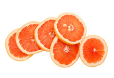 Grapefruit slices Royalty Free Stock Image