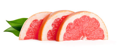 Grapefruit slices Stock Photos