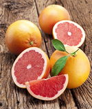 Grapefruit with slices. Royalty Free Stock Image