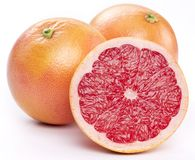 Grapefruit with slices. stock image