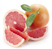 Grapefruit with slices. Royalty Free Stock Images