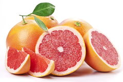 Grapefruit with slices. Royalty Free Stock Photo