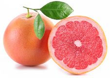 Grapefruit with slices. Royalty Free Stock Photography