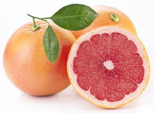 Grapefruit with slices. Stock Photo