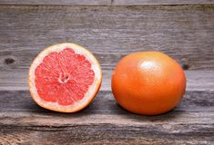 Grapefruit with slices Royalty Free Stock Photo