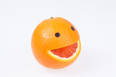 Grapefruit with a smile. Stock Images