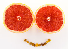 Grapefruit smile Stock Photo
