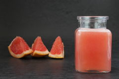 Grapefruit smoothie. Smoothie made of bitter fruit for vitamin stock photography