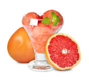 Grapefruit sorbet Royalty Free Stock Photo
