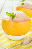 Grapefruit sorbet Stock Image