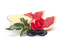Grapefruit spa products Royalty Free Stock Image