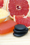 Grapefruit spa products Stock Photos