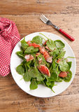 Grapefruit and spinach salad Royalty Free Stock Photo