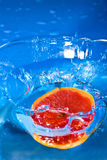 Grapefruit splash Stock Photo