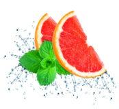 grapefruit splash water Stock Image