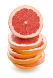 Grapefruit stack Stock Photos