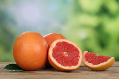 Grapefruit in summer with copyspace Stock Photos