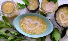 Grapefruit sweet gruel, Vietnamese sweet soup Royalty Free Stock Image