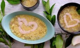 Grapefruit sweet gruel, Vietnamese sweet soup Stock Image