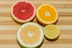 Grapefruit, sweety, lemon and orange Royalty Free Stock Photos