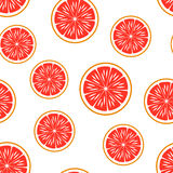 grapefruit Vector o teste padrão sem emenda ilustração royalty free