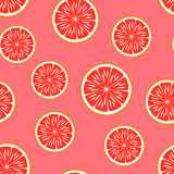 Grapefruit. Vector seamless pattern. Royalty Free Stock Photography