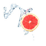 Grapefruit in water Royalty Free Stock Images