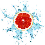 Grapefruit and water Stock Photos